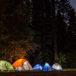 tentes camping illuminées