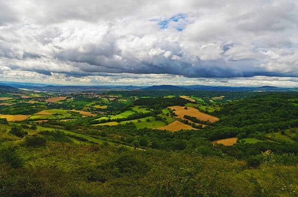 Plateau vert Gergovie en Auvergne