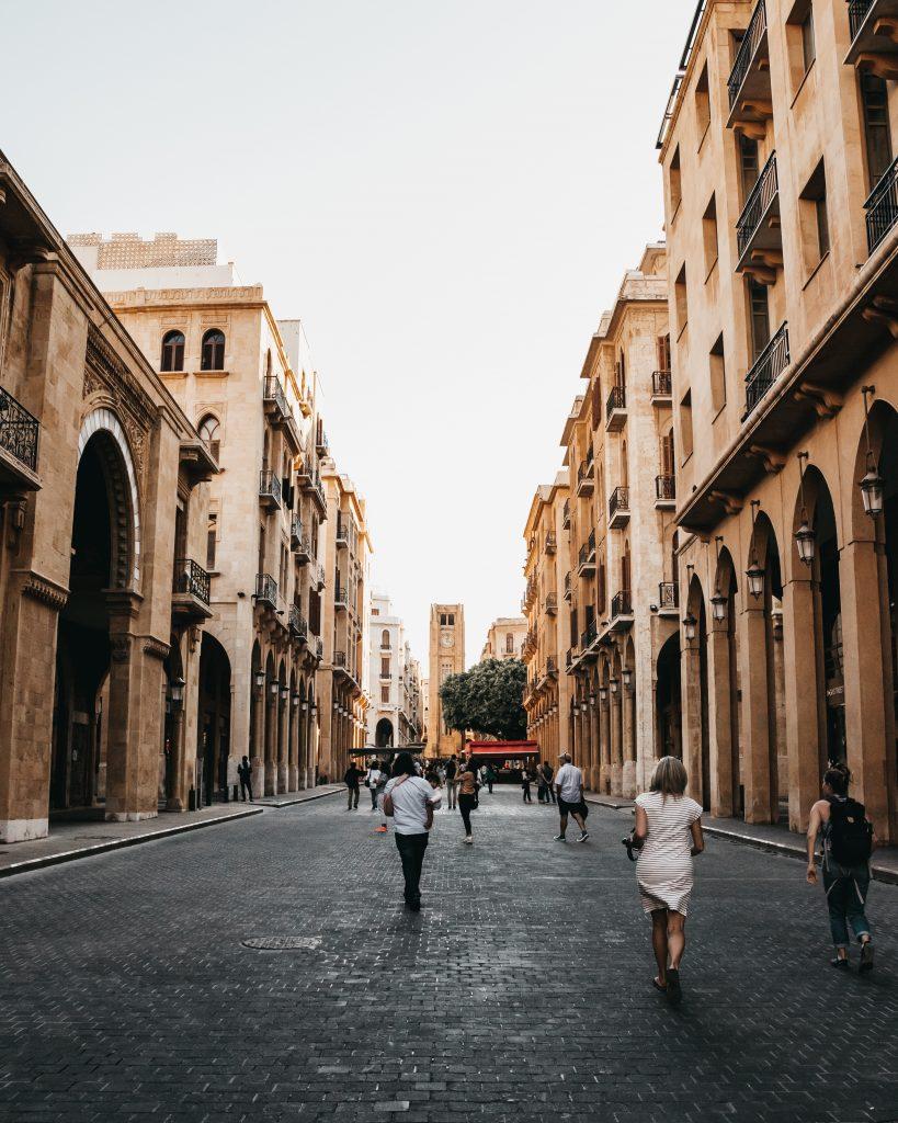 Grande rue piétonne à Beyrouth