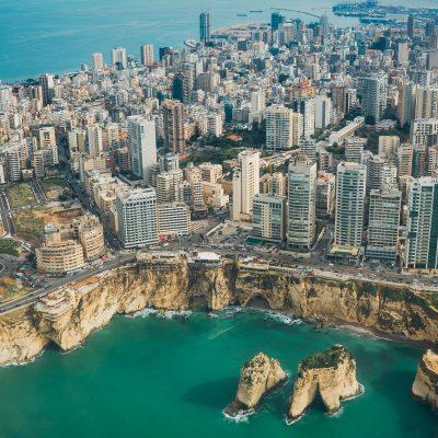 Vue aérienne de Beyrouth, capitale du Liban
