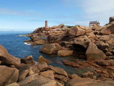 Phare de Ploumanach en Bretagne sur la Côte de Granit Rose